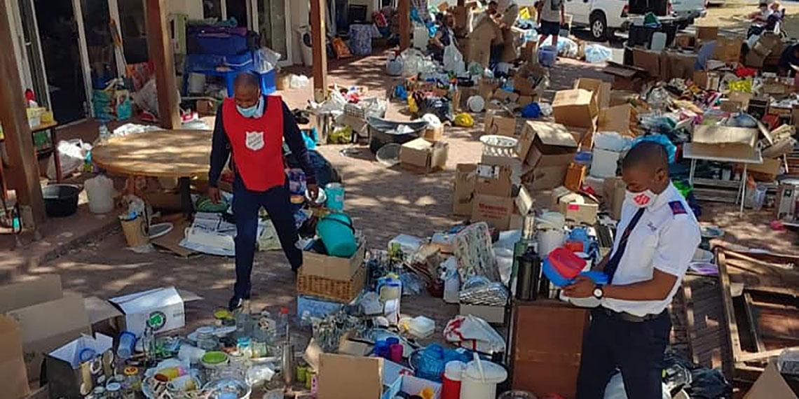 Cape Town fire: Salvation Army response