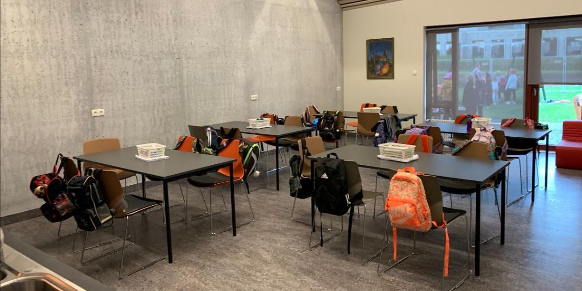 Iceland temporary school inside church
