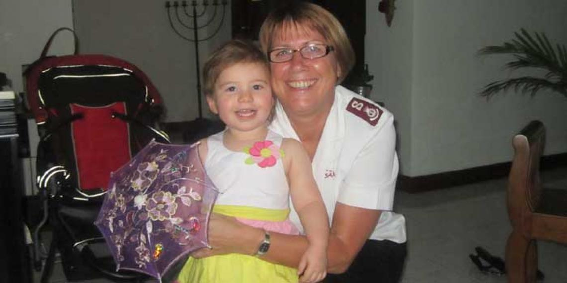 Major Steph Herring and granddaughter