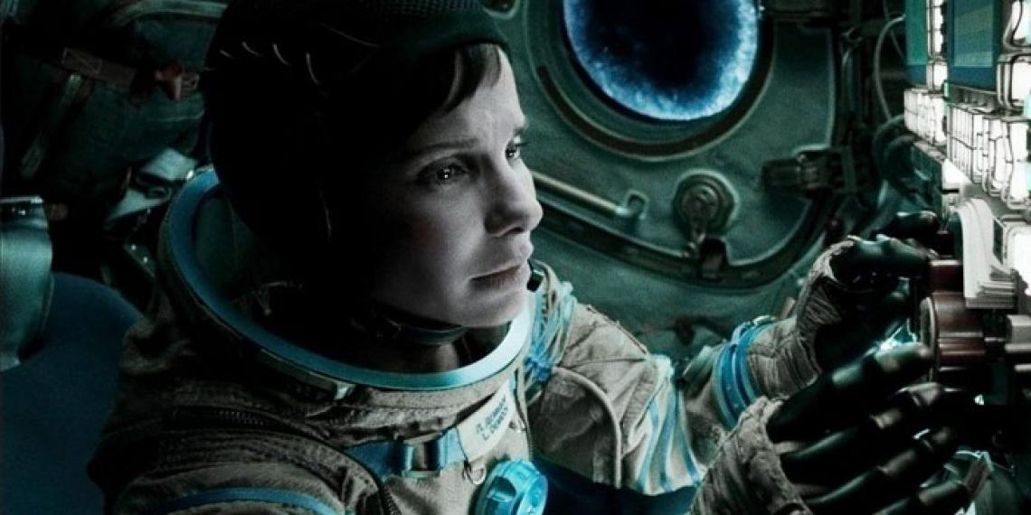 Sandra Bullock in the film Gravity.