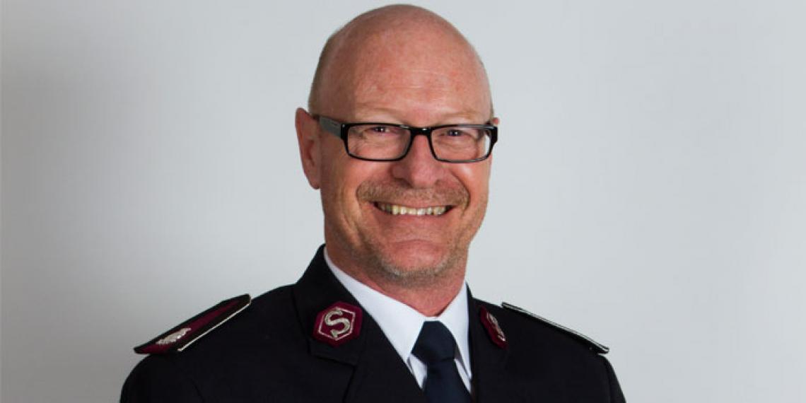 Territorial Commander Commissioner Robert Donaldson