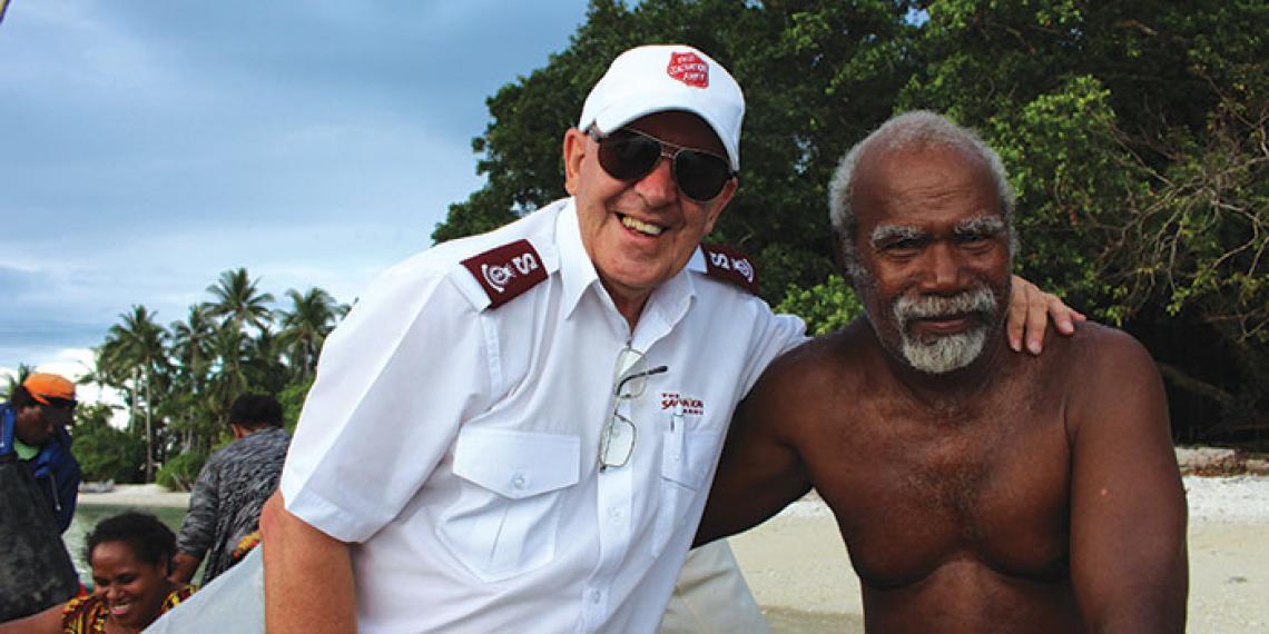 Malcolm Herring and Soloman Islander