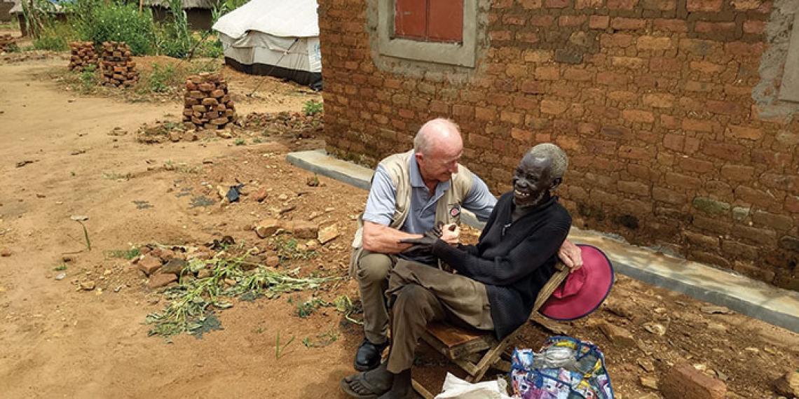 Major David Bennett in Uganda