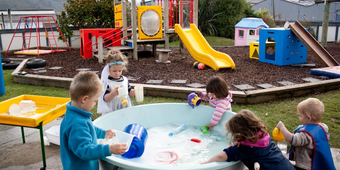 children playing at ECEC