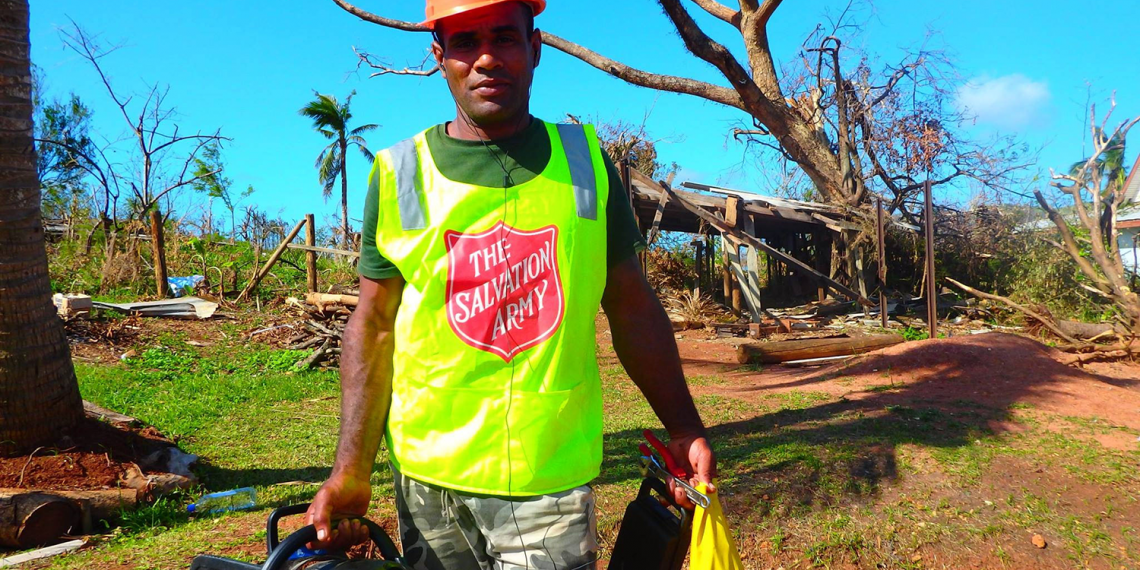Salvation Army emergency services worker in Fiji