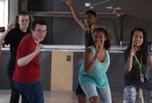 Dancers at a creative arts camp