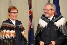 Territorial leaders Commissioners Andy and Yvonne Westrupp