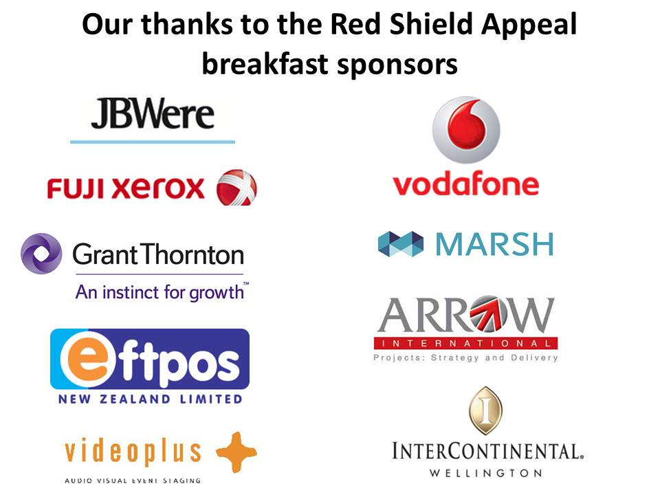 Red Shield Appeal breakfast sponsors