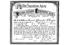 Dedication certificate