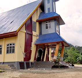 One of five Salvation Army churches buildings damaged in Central Sulawesi Province