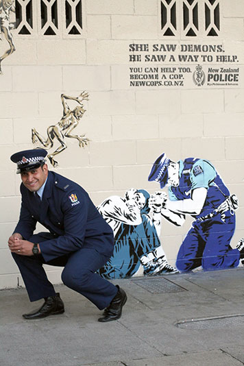 Constable Lio Kaihau of the New Zealand Police