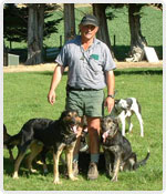 John and his team of dogs